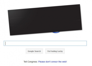 Google's Anti-SOPA Protest